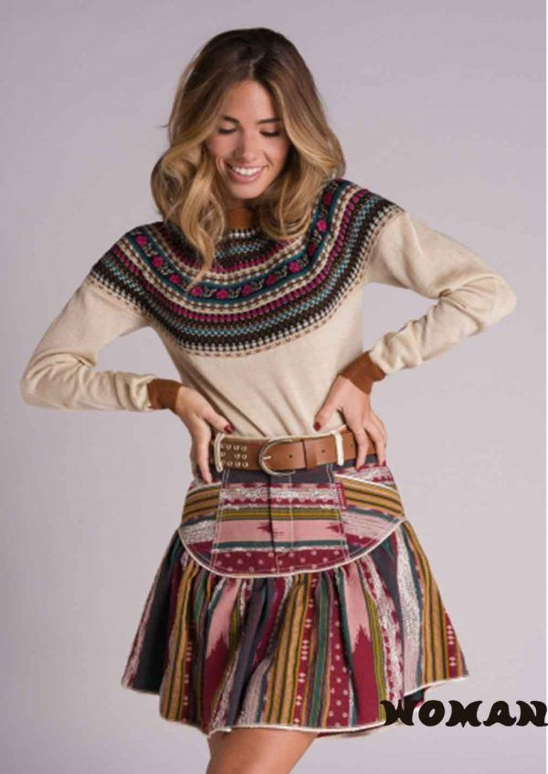 on-the-prairie-falda-jacquard-highly-preppy--woman-boutique-murcia