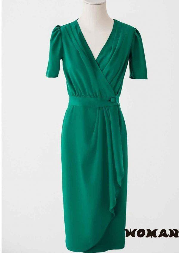 Vestido-Cherubina-suize-verde-reina-letizia-ortiz