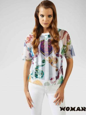 Camiseta Versace Estampada Multicolor