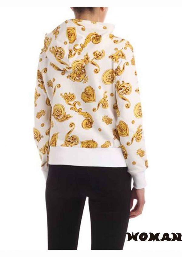 Sudadera con capucha y estampado logo Versace