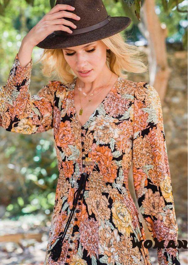 Vestido Jaase Lorelei Print Indiana Maxi