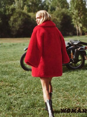 Red Teddy Coat Fetiche Suances