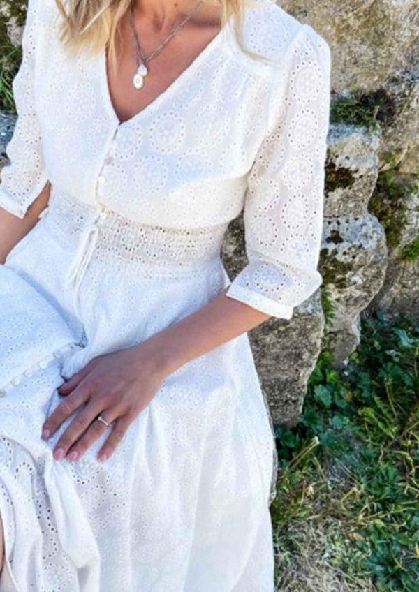 Vestido Jaase Indiana Maxi – Jasmine White