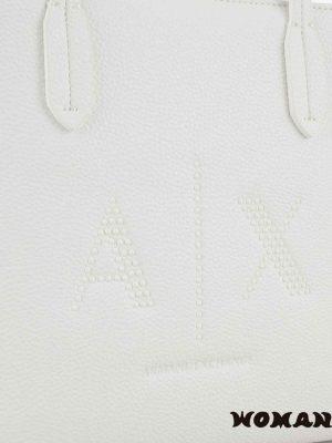 Bolso de hombro Armani Exchange Blanco