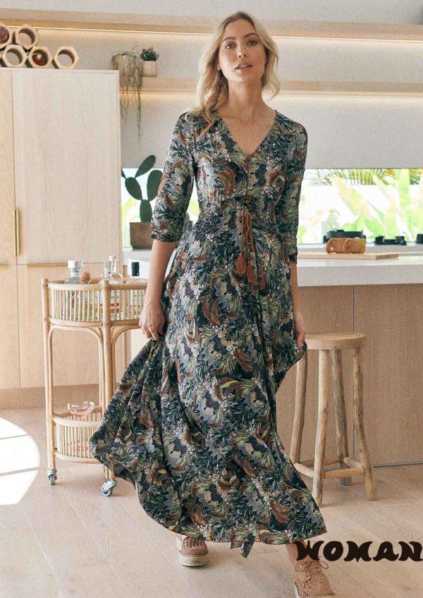 Vestido Jaase Valencia Print Indiana Maxi