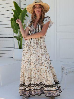 Vestido Jaase Alaina Print Zola Maxi
