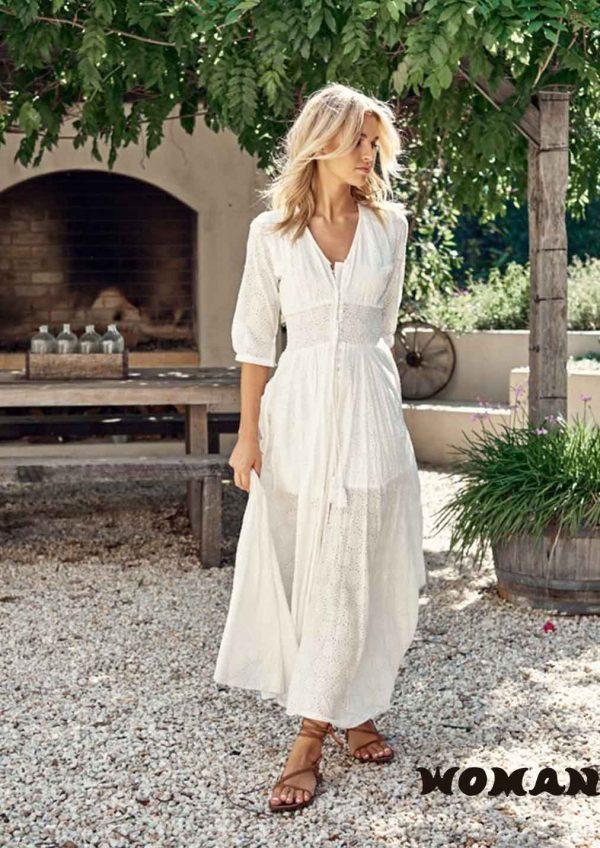 Vestido Jaase Indiana Maxi - Jasmine White Anglaise
