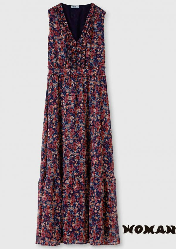 Vestido Liujo largo flores