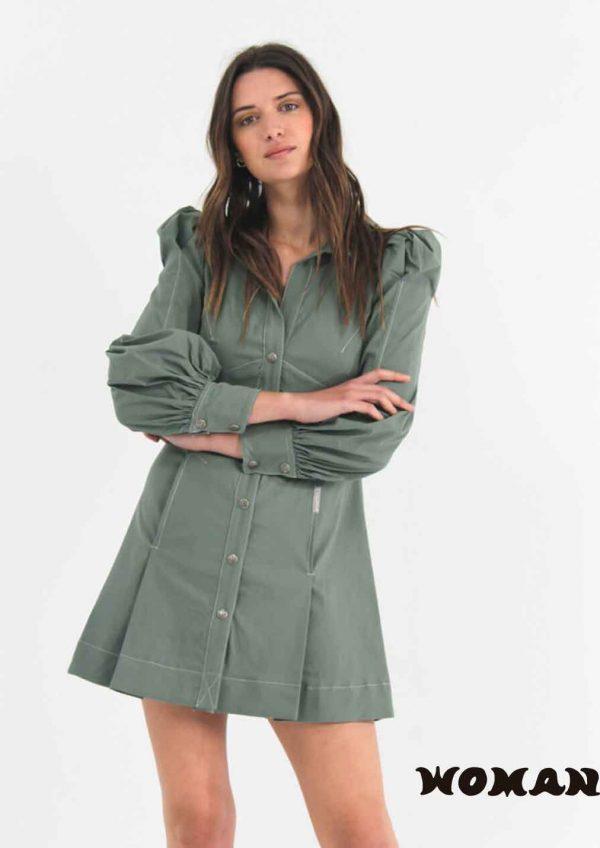Vestido HIGHLY PREPPY camisero elastico