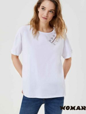 Camiseta Liujo con broches de pedrería