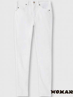Pantalón de Liujo blanco pitillo de talle alto
