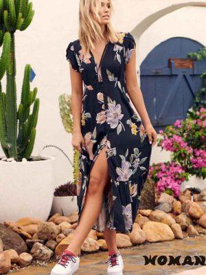 Vestido Jaase Peppa Print Shirley Maxi Dress