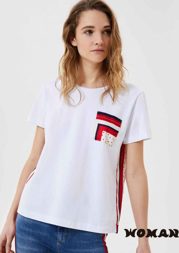 Camiseta Liujo inserciones estampadas