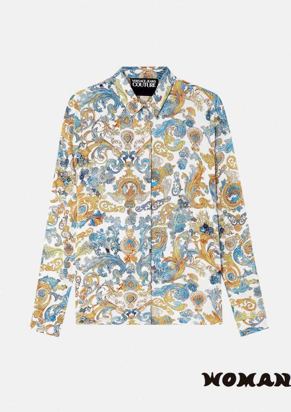 Camisa Versace estampado Rococó