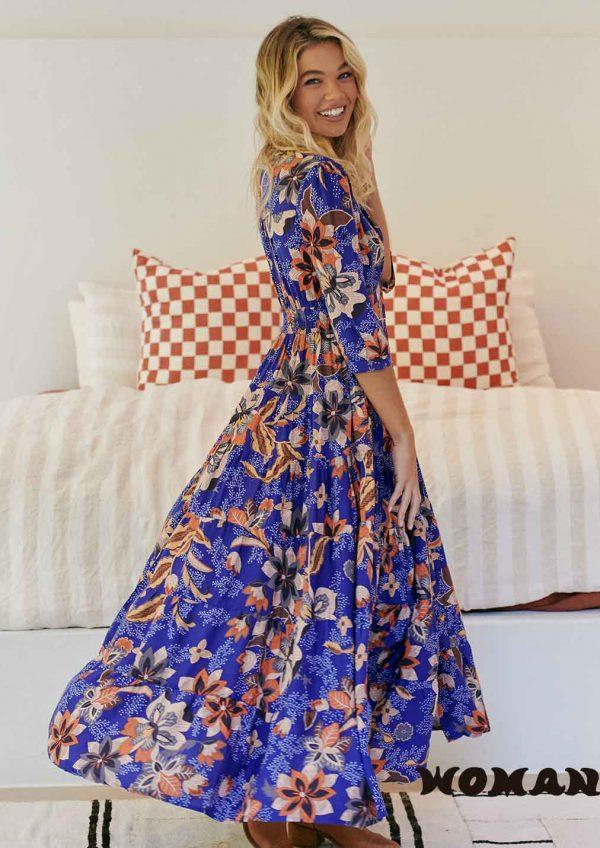 Vestido Jaase Catalina Print Maxi