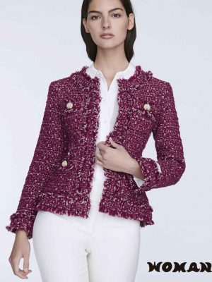 Chaqueta The Extreme Collection Tweed Choupette Merlot