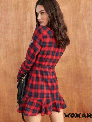 Vestido FETICHE SUANCES Selena Tartan Red