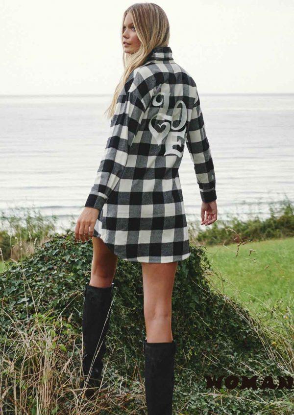 Vestido FETICHE SUANCES Love Tartan Black